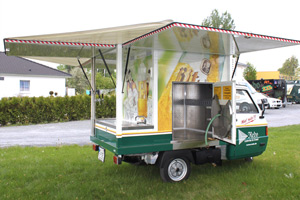 Mobiler Bierwagen